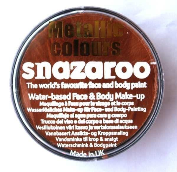 Barva na obličej třpytivá 18 ml > varianta MĚDĚNÁ Snazaroo