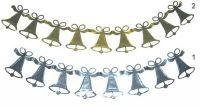 Girlanda vánoční zvonky > varianta STŘÍBRNÉ