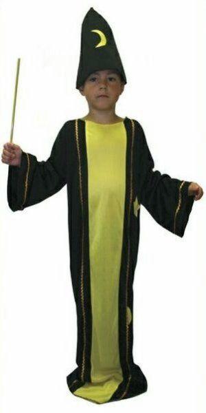 Karnevalový kostým ČARODĚJ > vel. M do 136 cm (6-8 let)