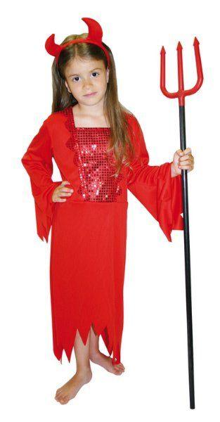 Karnevalový kostým čertice > vel.L do 156 cm (8-10 let)