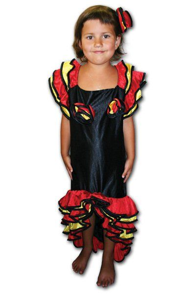 Karnevalový kostým tanečnice latino > vel. S do 116 cm (4-6 let)