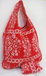 Nákupní skládací taška s pouzdrem červená 39x41cm