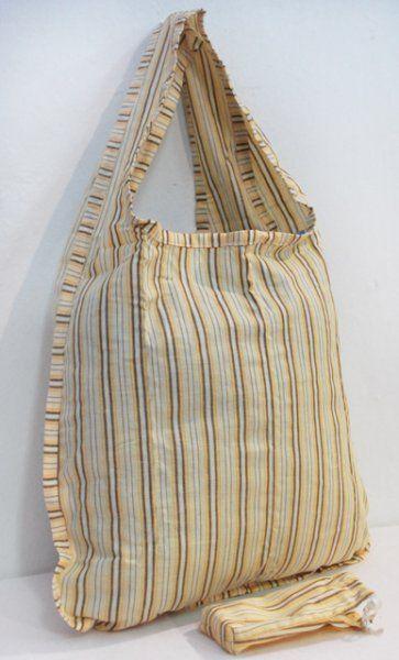 Nákupní skládací taška s pouzdrem proužek ČESKÝ VÝROBEK