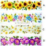Okenní dekorace fólie pruh květinový 64x15cm > varianta D ŠÍPEK