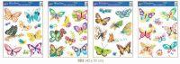 Okenní dekorace motýli s květy > 42x30cm