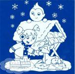 Vánoční dekorace na okna bílé KRMELEC 23x20cm