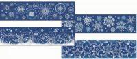 Vánoční okenní dekorace folie pruh VLOČKY X