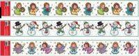 Vánoční okenní folie LEMY ANDĚLÉ 60X7cm > varianta ANDĚL FIALOVÝ