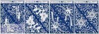 Vánoční okenní folie rohová s duhovými glitry > varianta VLOČKY > 42x30cm