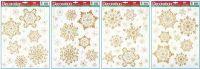 Vánoční okenní folie VLOČKY krémové > 42x30cm