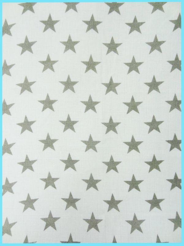 5ks potiskových plen 70x70 - Hvězdy šedé