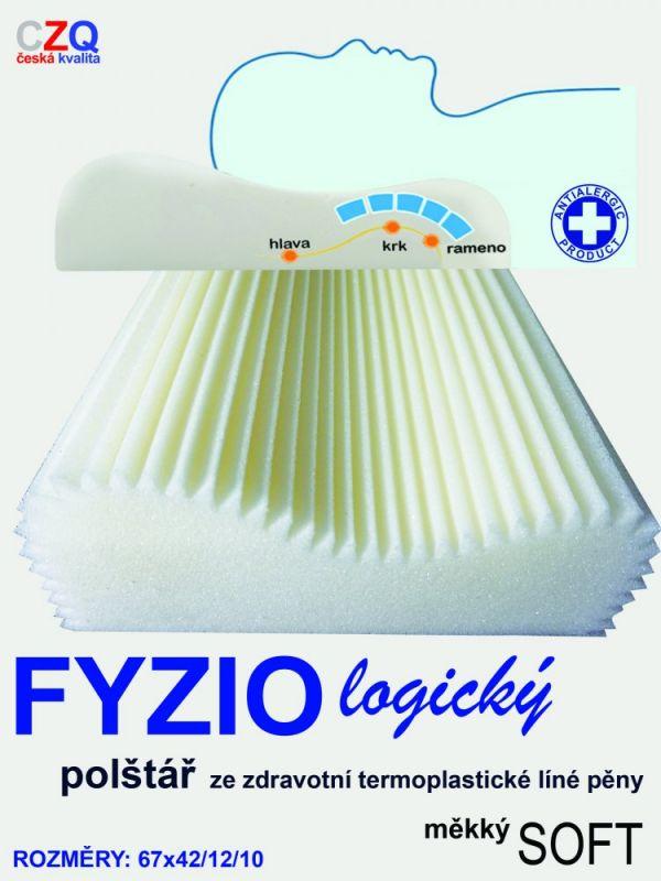 Anatomický polštář FYZIO logický Soft 50x30cm ČESKÝ VÝROBEK