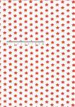 Bavlněná látka metráž hvězdy červené/bílá