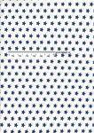 Bavlněná látka metráž hvězdy modré/bílá