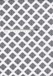 Bavlněná látka v metráži  Karo černé/bílá