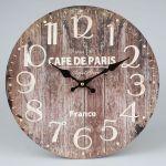 Dekorační hodiny na zeď Cafe de Paris