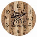 Dekorační hodiny na zeď Family love
