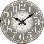 Dekorační hodiny na zeď Kompas