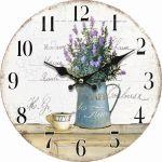 Dekorační hodiny na zeď Lavender