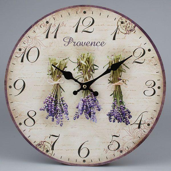 Dekorační hodiny na zeď Levandule