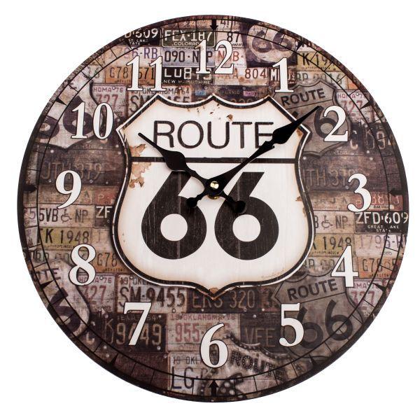 Dekorační hodiny na zeď Route 66