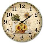 Dekorační hodiny na zeď Slunečnice