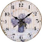 Dekorační hodiny nástěnné  Hortenzie