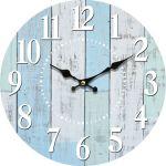 Kuchyňské hodiny na zeď Modré