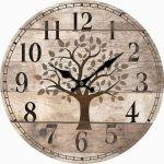 Kuchyňské hodiny na zeď Strom života