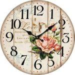 Nástěnné hodiny Love rose