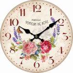 Nástěnné hodiny Marseille rose