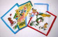 Dětské textilní kapesníky potisk Mix