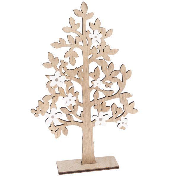 Dřevěný strom, dekorace