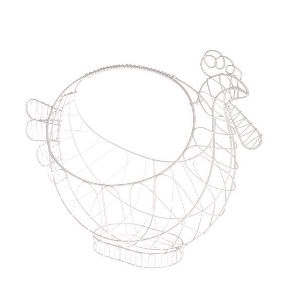 Kovový drátěný košík Slepička