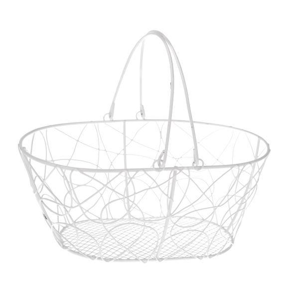 Kovový drátěný nákupní košík