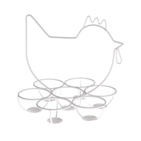 Kovový drátěný stojan na vajíčka Slepička