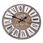Nástěnné retro hodiny Love