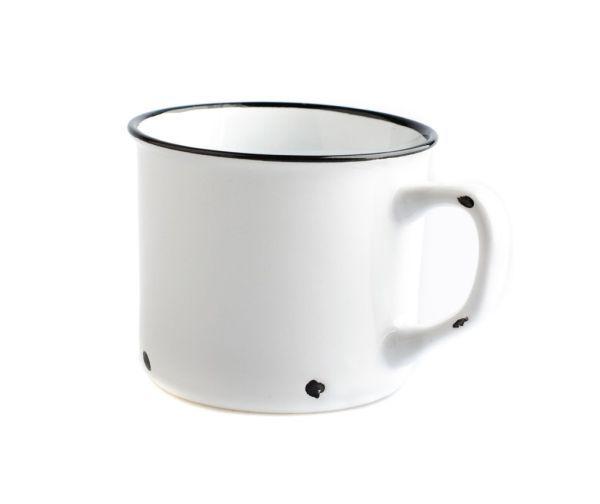 Porcelánový hrnek bílý (tzv. plecháček)
