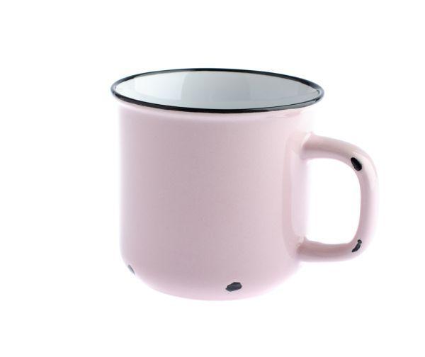 Porcelánový hrnek růžový (tzv. plecháček)