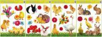 Okenní fólie velikonoční živá kuřátka 42x30cm