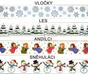 Vánoční okenní folie LEMY > varianta VLOČKY