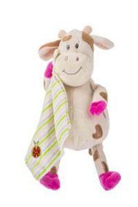 25.Dětský plyšák kravička s dečkou - 22cm