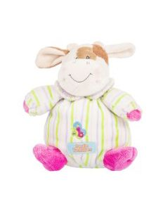 26.Dětský plyšák Baby kravička - sedící s chrastítkem / 16cm