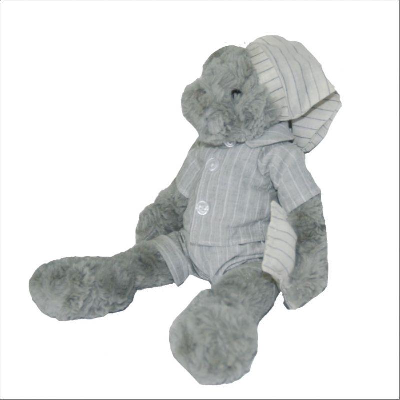 Dětský plyšák Medvídek Péťa- v pyžámku, 28 cm