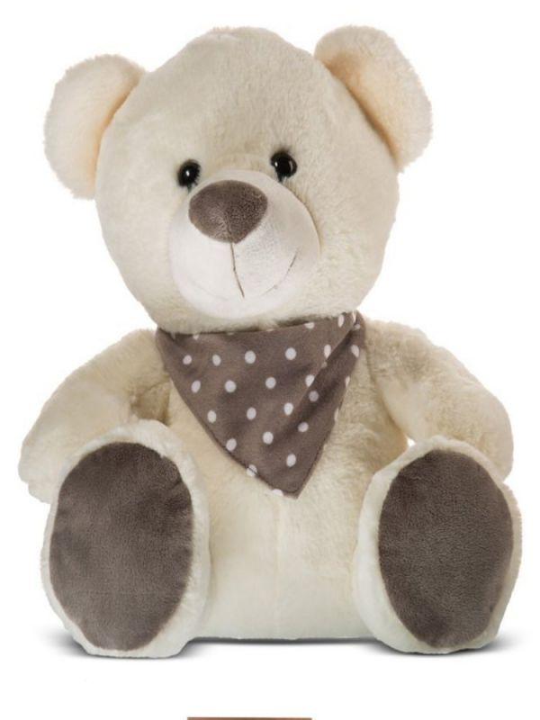 Dětský plyšák Medvídek s hnědým šátkem 20cm