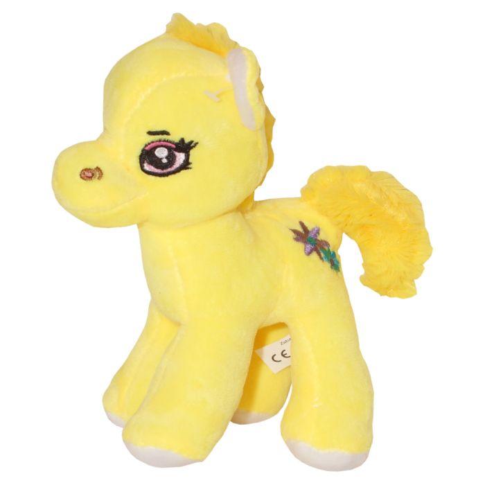 Dětský plyšák- Poník Emily- žlutý- 20 cm