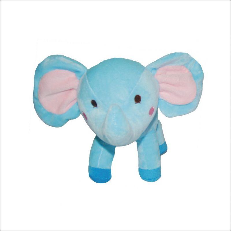 Dětský plyšák Slon Standa, modrý, 26 cm