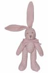 Dětský plyšák Zajíc Tečka - růžový, 23 cm