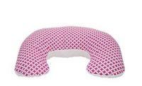 Kojící polštář/podkova z polystyrenových kuliček kolekce Simple - růžový