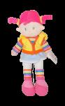 Látková panenka Sweet Girl- žlutá mikina- 36 cm
